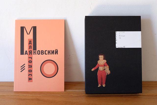 先日の東京出張の際、ずっと行ってみたかった @nostosbooks さんにお伺いしました。アートやデザイン関連の古書や新書が充実していて、すごく好きな感じの本屋さんでした。いい本がたくさんあってどれにするかずいぶんと迷って選んだ2冊はこちら。リシツキーとマヤコフスキーの『声のために』。サイトヲヒデユキさんデザインのコーネル展の図録。また行きます!